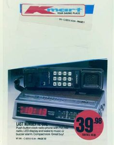 Kmart Ad, old technology memory.