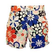 1235d0ef5c Bayahibe Mens Swim Short BAYA 828506 XXLarge NavyRedPink Flowered Pattern  >>> For more information