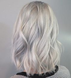 Icy blonde lob by Chantal Lauren