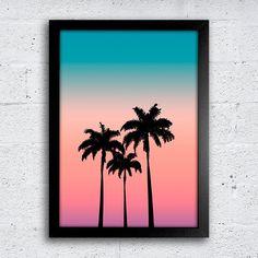 Poster Palm Trees - Encadreé Posters Encontre a arte perfeita para sua decoração na Encadreé Posters.  Palavras-chave: parede decorada, parede de quadros, posters, quadros, decor, decoração, presentes criativos, arte, ilustração, decoração de interiores, decoração criativa, quadros decorativos, posters com moldura, quadros modernos, decoração moderna, praia, palmeiras, degradê