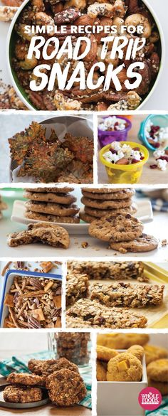 Are we there yet?! (keep everyone in the car occupied with these tasty, healthful nibble) EIGHT RECIPES! #summer #snacks