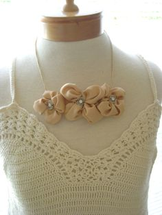 Handmade Gold silk handmade upcycled jewelry by Itsewbella on Etsy, $23.00