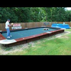 Bowling ball pool table!  Awesome fun!