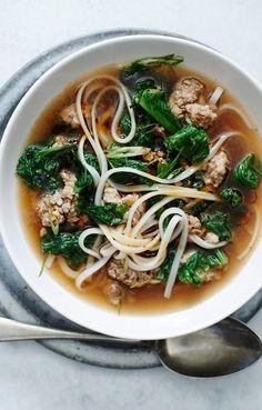 Spicy Pork and Mustard Green Soup | Bon Appétit
