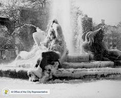 Logan Circle Frozen fountain
