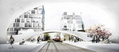 Henning Larsen Wins Competition for Future Vinge Train Station in Denmark. Real interesting approach to the infrastructure. Saccharine rendering though.