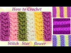 Entrelac braiding point (with braids gorditas!) To crochet / Weaving Peru Crochet Star Stitch, Crochet Stitches, Crochet Patterns, Free Crochet, Knit Crochet, Star Flower, Square Patterns, Crochet Videos, Learn To Crochet