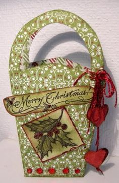 ScrapFactory: Inspiration with the new Basic Grey series posted by Lisa Christmas Crafts For Gifts, Craft Gifts, Christmas Holidays, Christmas Cards, Paper Carrier Bags, Basic Grey, Scrapbooking, Martha Stewart, Gift Tags