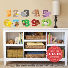 Animals Alphabet NUMBERS Wall Decals Learning Set by KiddyWalls