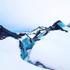 iceland. Ice colors. Blue crystal and snow white. Breathtaking