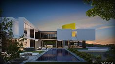 AO Ridge: Located at the foot of the Lubango ridge overlooking the city of Luanda. This sculptural residence hovers above the landscape...