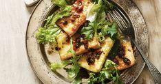 Lemon haloumi with fried capers main image Healthy Chicken Recipes, Potato Recipes, Keto Recipes, Vegetarian Recipes, Dinner Recipes, Cooking Recipes, Dinner Ideas, Potato Dishes, Lamb Recipes