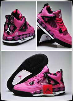 Air Jordan 4 Women Shoes Pink, www.shoesjerseyonline.net