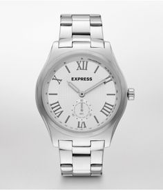 A sleek analog watch is the perfect gift for Your Guy. #Express #OneHotDate #VDay #gifting