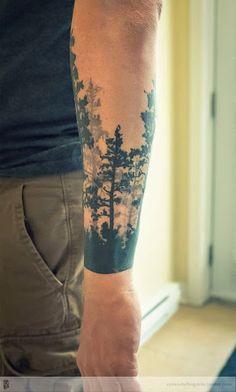 O que é bonito com floresta de tatuagens é que você pode fazer uma imagem completa, mas que ainda não iria olhar confuso, como alguns projetos.