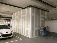 Herstelwerkzaamheden en sauswerk van de lifthokken in parkeergarage P8 in winkelcentrum Stadshart te Zoetermeer