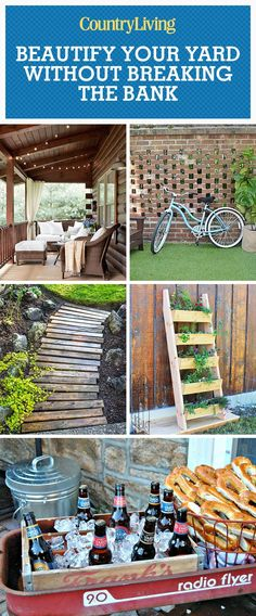 Gorgeous country farmhouse outdoor decor diy ideas for for Garden outlay ideas