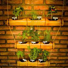 15 ideas para decorar con bambú   Huertas en cañas