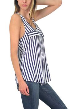 Casual Henley Tunic - cute in stripes!