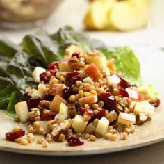 Wheat Berry Salad with Red Fruit