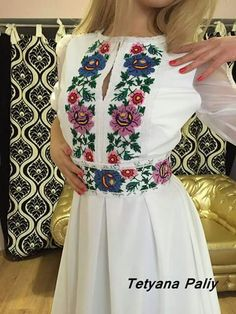 Mexican Outfit, Mexican Dresses, Embroidery Fashion, Embroidery Dress, Crochet Wedding Dresses, Ukrainian Dress, Ethno Style, Bodice Pattern, Cute Floral Dresses