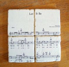 sheet music coasters!