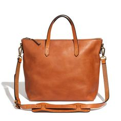 Love this color! I think I need this. Madewell - The Zip Transport Tote