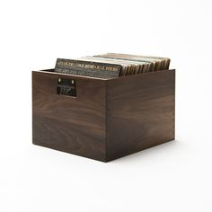 Keep up to 100 records close at hand with a Dovetail Record Crate.