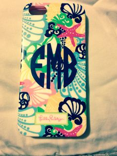 i actually love all the patters, especially this one !! Lilly pulitzer phone case!! wihout the monogram this would be perff