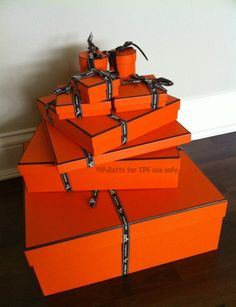 Hermes Orange - Boxes for scarves