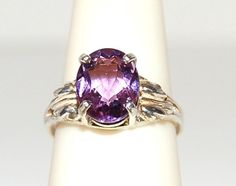 Sparkling Rose de France Amethyst Ring Size 8 by WindstoneDesigns, $44.95
