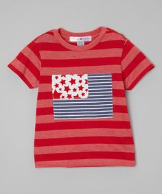 Look at this Heather Red Patriotic Tee - Toddler & Boys on #zulily today!