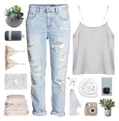 """temporary fix"" by nothing-like-the-rain ❤ liked on Polyvore featuring H&M, Georg Jensen, Aiayu, Torre & Tagus, Rough Fusion, Brinkhaus, Samsung and adidas"