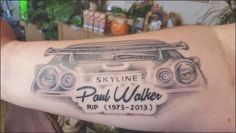 Tattoo Paul Walker Rip | Tattoos~Piercings Gallery | Pinterest ... #cars #sleeve #tattoo #tattooideas