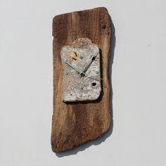 Driftwood Clock, Driftwood Wall Clock, Drift Wood Clock, Beach finds Clock.