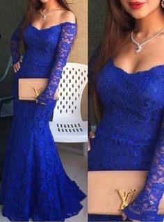 Royal Blue Prom Dress, Sexy prom dresses,Charming prom dress,Formal Dresses,prom dresses,Long prom dresses,Sleeve Evening Dresses