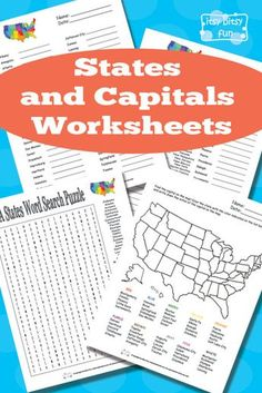 Great site with loads of free unit study printables! Free Printable States and Capitals Worksheets 4th Grade Social Studies, Teaching Social Studies, Social Studies Notebook, Printables Organizational, Guestbook Wedding, Teaching Geography, Teaching History, Geography Activities, States And Capitals