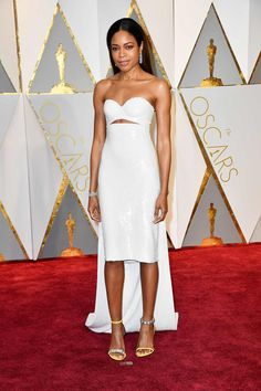 Naomie Harris in Calvin Klein by Appointment attends the Oscars 2017