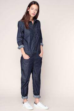 Combi-pantalon denim bleu Stalt 3D Jumpsuit  1