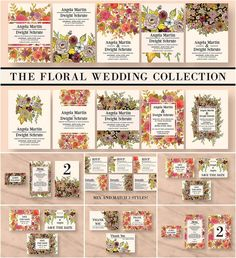 Description: Set of 10 wedding invitation cards, 3 RSVP, 3 Information card, 3 Save The Date cards, 3 Menu, 3 Thank You, 3 Table Number and 3 placecard templates. All text and font colors are editable. The floral watercolour elements were hand painted and are not fully editable. For personal use. Free for download. File format: .psd, .jpg for Photoshop or other vector software. File size: 417 Mb.