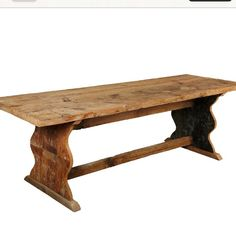 Love this old wood table From onekingslane.com