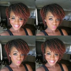 Colored, layered sisterlocks. She is gorgeous!
