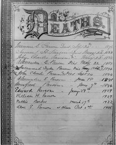 Pike Family Bibles and other Pike Family Documents