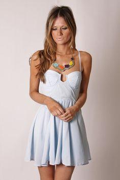 I love corset top dresses
