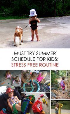Must Try Summer Schedule for Kids: Stress Free Routine *love the combination of structure and spontaneity