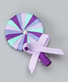Take a look at this Purple Lollipop Clip by Sweet Treat Bows on #zulily today!