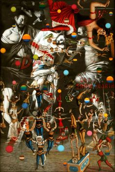 Ronald Ventura 'Carne Carnivale' 2014 oil on canvas 72 x 48 inches. Image courtesy the artist and Tyler Rollins Fine Art. Crafts To Do When Your Bored, Southeast Asian Arts, Philippine Art, Art Fund, Unusual Art, First Art, Arts And Crafts Supplies, Psychedelic Art, Surreal Art