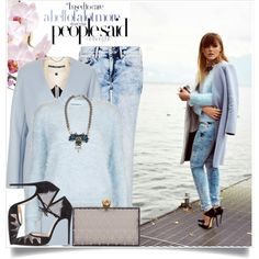 Baby blue / blogger style