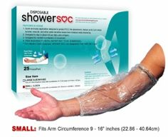 Keeps PICC line Dry while showering. Find the PICC Shower Soc at CastCoverFashions.com