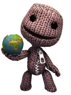 View an image titled 'Sackboy Holding Earth Art' in our LittleBigPlanet art gallery featuring official character designs, concept art, and promo pictures. Little Big Planet, Planets Wallpaper, Loki Marvel, Game Character Design, King Kong, First Tattoo, Design Projects, Concept Art, Art Gallery